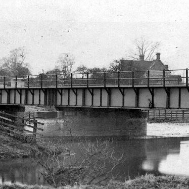 Whitacre, Nether.  Railway bridge over the river [Blythe?]