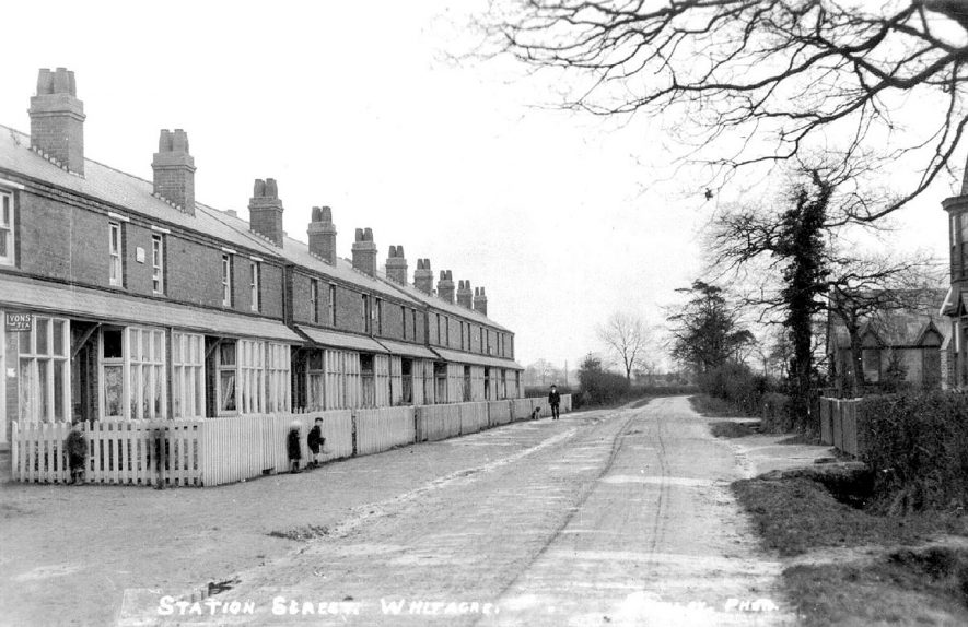View along Station Street, Nether Whitacre.  1910s |  IMAGE LOCATION: (Warwickshire County Record Office)
