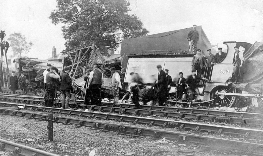 Railway accident at Nether Whitacre.  1903 |  IMAGE LOCATION: (Warwickshire County Record Office)