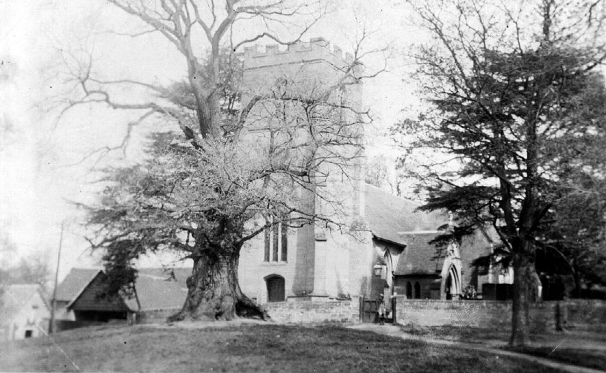 Exterior of St Margaret's church, Whitnash.  1900s |  IMAGE LOCATION: (Warwickshire County Record Office)