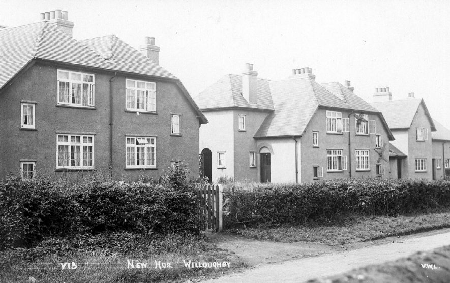 New houses in Willoughby.  1920s |  IMAGE LOCATION: (Warwickshire County Record Office)