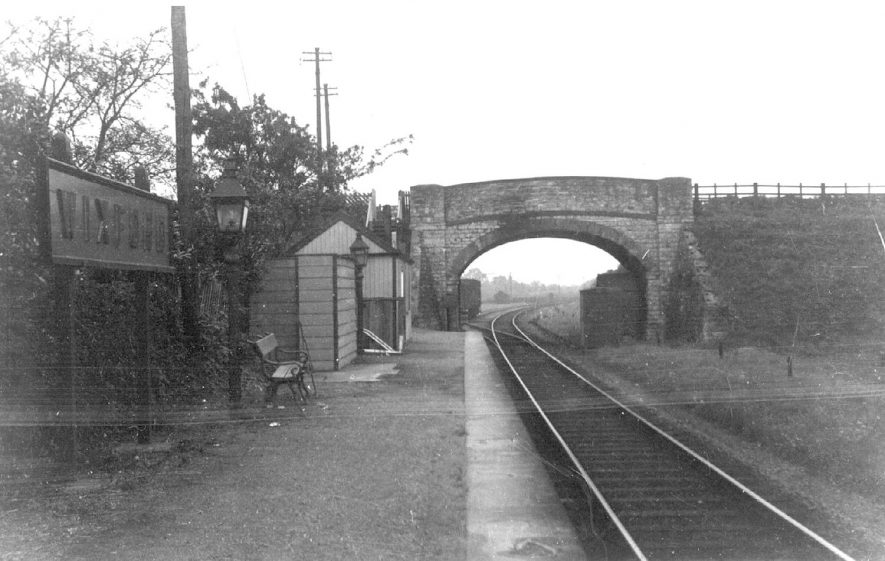 Wixford railway station.  1960 |  IMAGE LOCATION: (Warwickshire County Record Office)
