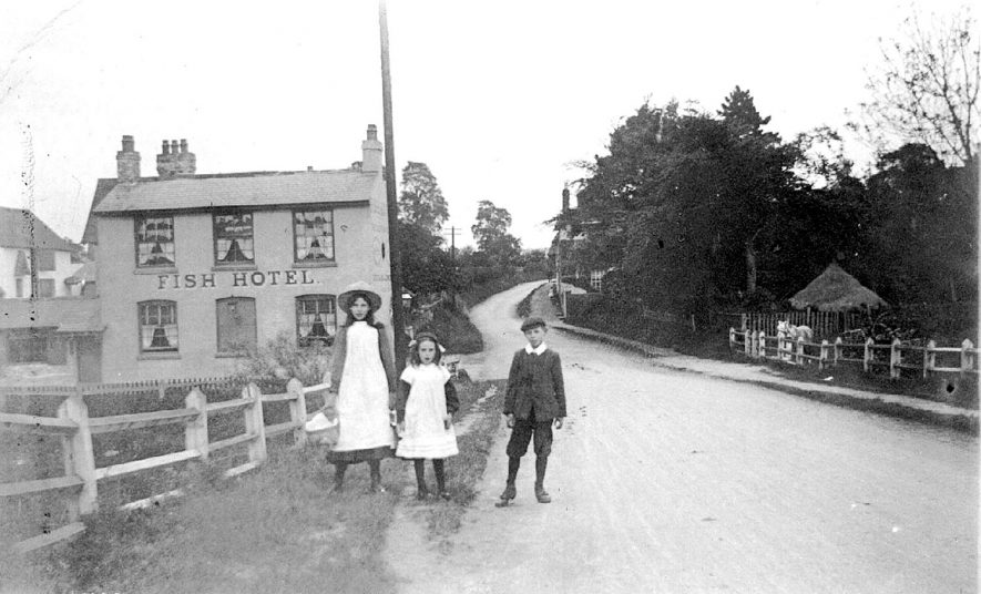The Fish Hotel, Wixford.  1900s |  IMAGE LOCATION: (Warwickshire County Record Office)