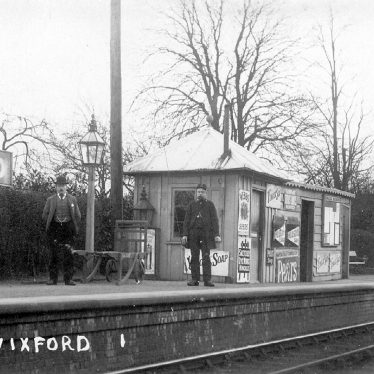 Wixford.  Railway Station, staff