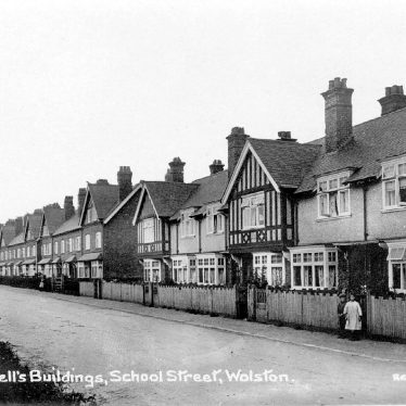 Wolston.  School Street, Bluemell's Buildings