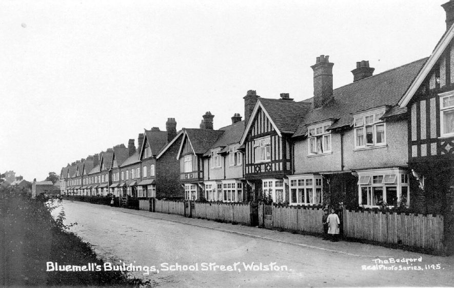 Bluemell's buildings, School Street, Wolston.  1910s |  IMAGE LOCATION: (Warwickshire County Record Office)