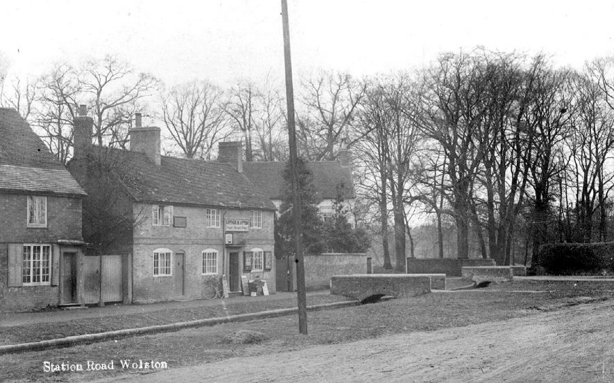 Station Road, Wolston. Village shop and Post Office? 1900s |  IMAGE LOCATION: (Warwickshire County Record Office)