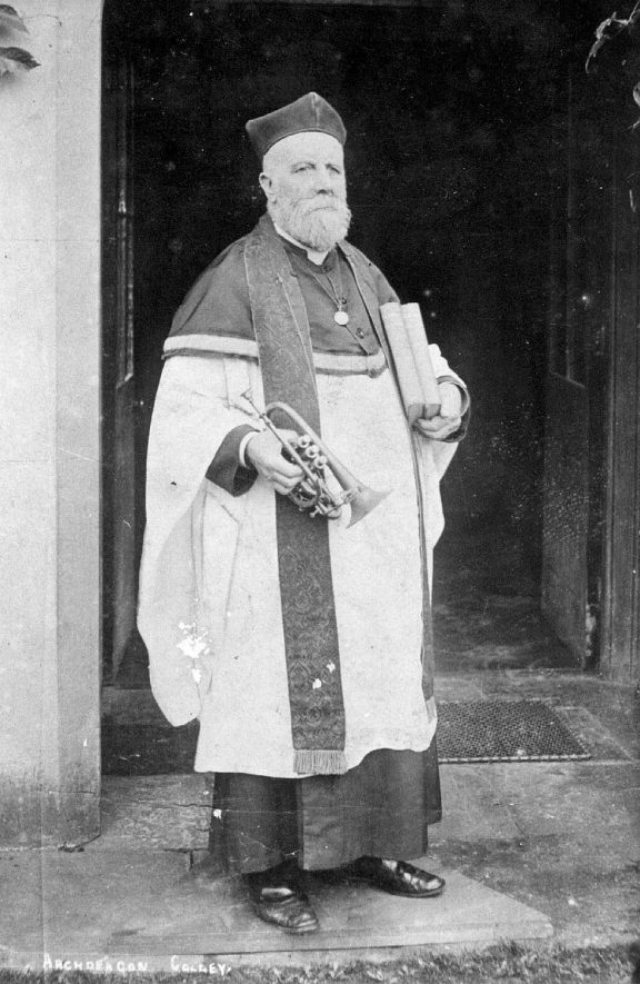 Archdeacon Colley, Rector of Stockton 1901-1912.  1910s |  IMAGE LOCATION: (Warwickshire County Record Office) PEOPLE IN PHOTO: Colley, Archdeacon, Colley as a surname