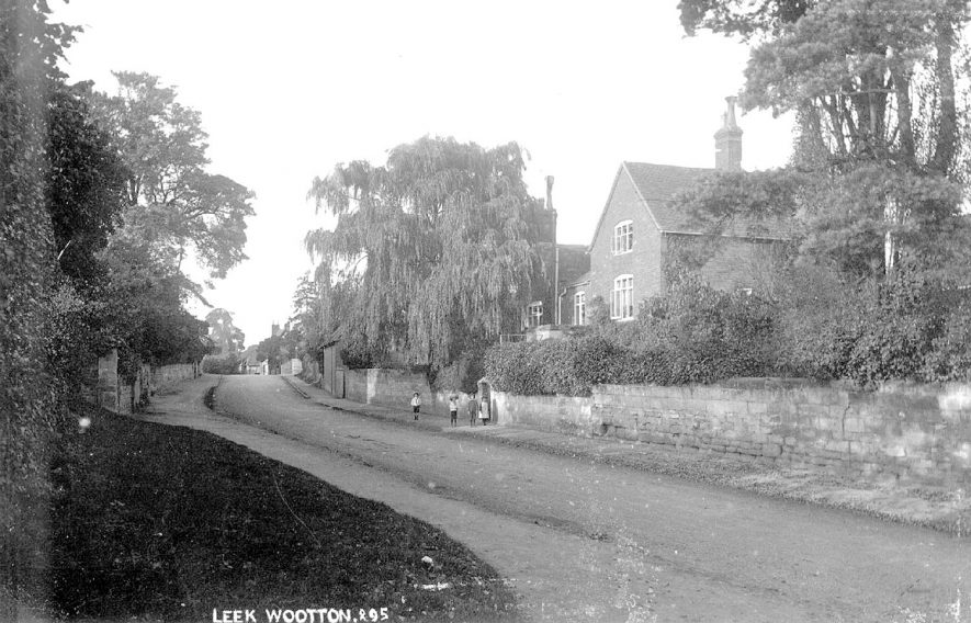 A village scene in Leek Wootton.  1920s |  IMAGE LOCATION: (Warwickshire County Record Office)