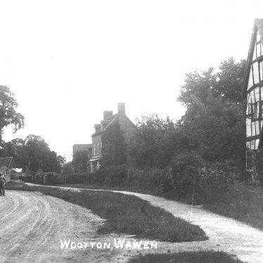 Wootton Wawen.  Village scene