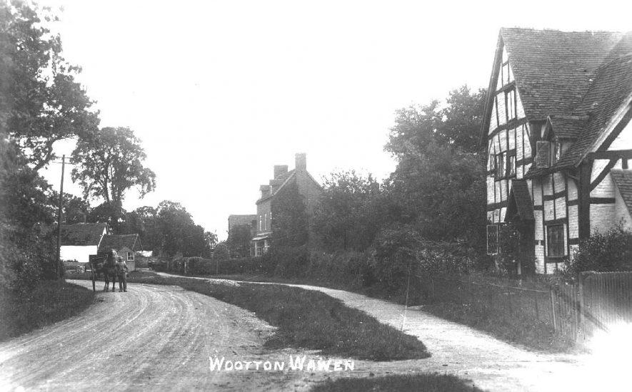 A village scene in Wootton Wawen.  1920s |  IMAGE LOCATION: (Warwickshire County Record Office)
