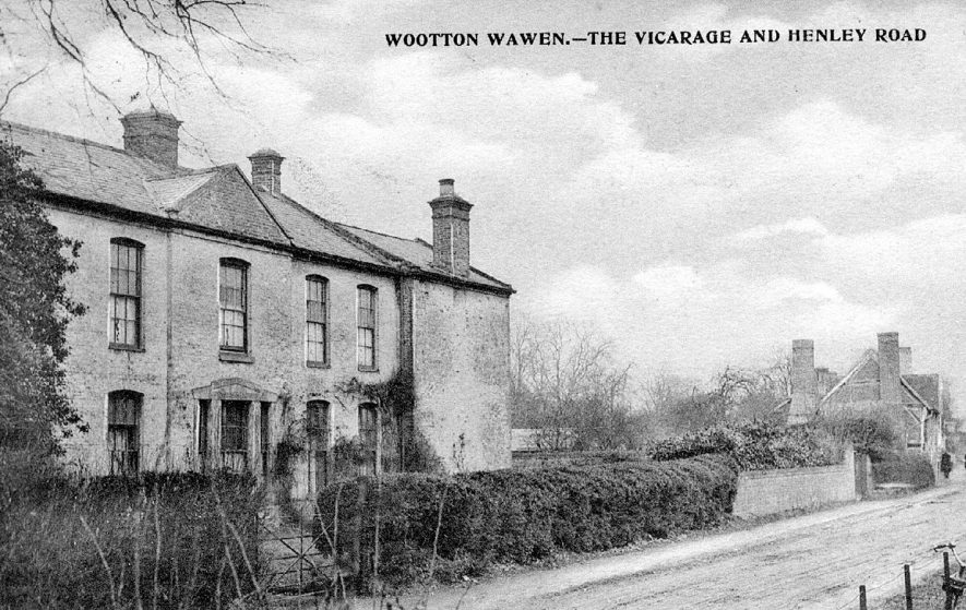 The Vicarage and Henley Road, Wootton Wawen.  1900s |  IMAGE LOCATION: (Warwickshire County Record Office)