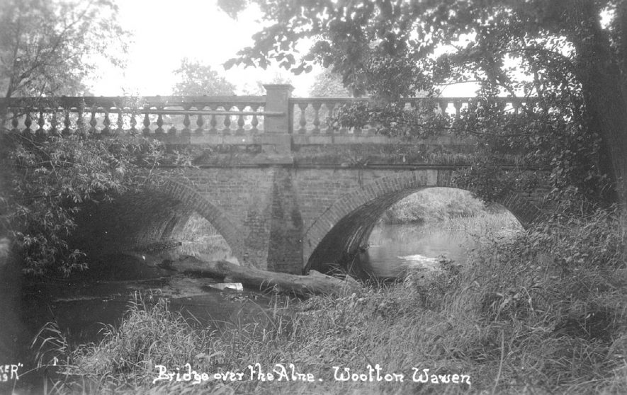 The bridge over the River Alne at Wootton Wawen.  1930s |  IMAGE LOCATION: (Warwickshire County Record Office)