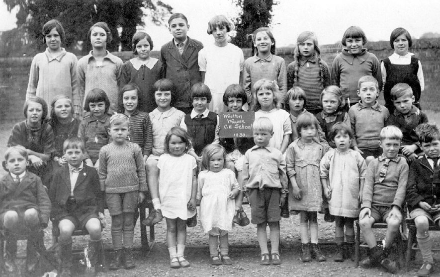 Wootton Wawen Church of England school pupils in 1930. |  IMAGE LOCATION: (Warwickshire County Record Office)
