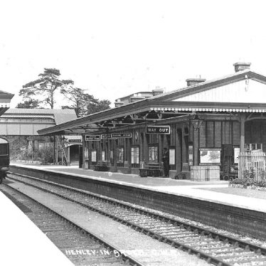 Henley in Arden.  G.W.R. Railway Station