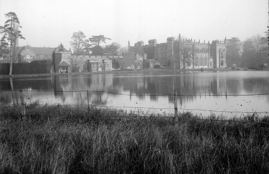 Arbury Hall with view of the lake.  1900s |  IMAGE LOCATION: (Warwickshire County Record Office)