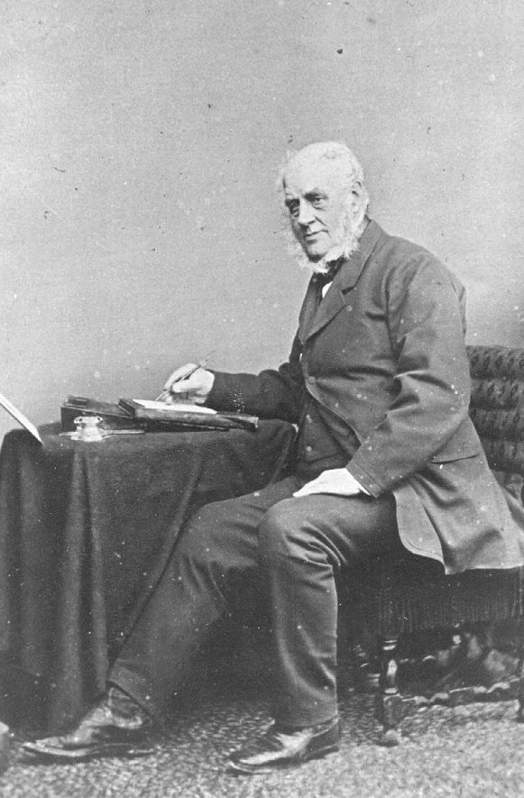 Seated portrait of Chas. Jones (1804-74) Solicitor.  Alcester.  1870s |  IMAGE LOCATION: (Warwickshire County Record Office) PEOPLE IN PHOTO: Jones, Chas, Jones as a surname