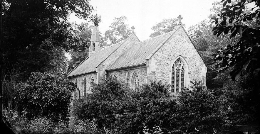 View of Caldecote Church.  1900s |  IMAGE LOCATION: (Warwickshire County Record Office)