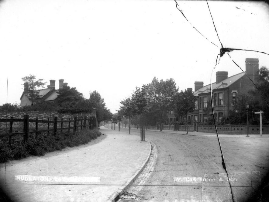 View of Leicester Road, Nuneaton.  1900s