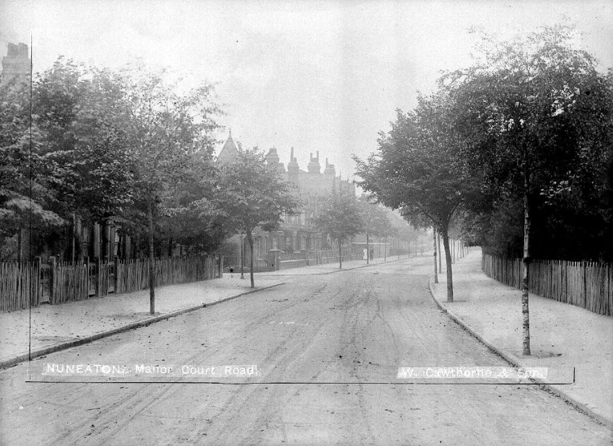 View of Manor Court Road, Nuneaton.  1900s |  IMAGE LOCATION: (Warwickshire County Record Office)