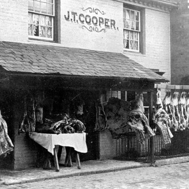 Alcester.  Cooper's butchers shop