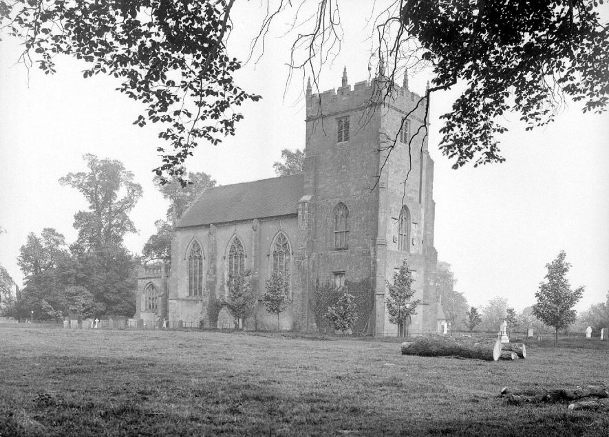 Astley church.  1900s |  IMAGE LOCATION: (Warwickshire County Record Office)