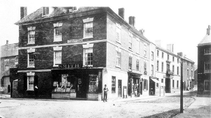 Bridge Street seen from Market Square, Nuneaton.  1900s |  IMAGE LOCATION: (Warwickshire County Record Office)