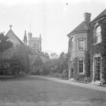 Nuneaton.  Parish church and vicarage