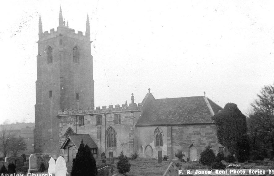 Church of St Laurence, Ansley.  1900s |  IMAGE LOCATION: (Warwickshire County Record Office)