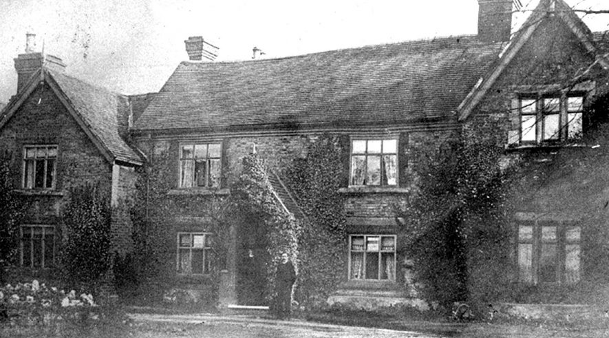 Exterior of Ansley vicarage.  1910s |  IMAGE LOCATION: (Warwickshire County Record Office)