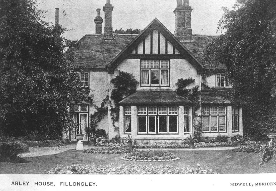 Exterior of Arley House, Fillongley.  1950s |  IMAGE LOCATION: (Warwickshire County Record Office)