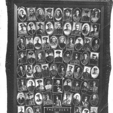 Atherstone.  Memorial portraits