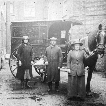 Atherstone.  Cart belonging to the Co-operative Society