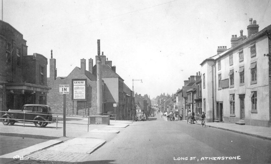Long Street, Atherstone.  1950s |  IMAGE LOCATION: (Warwickshire County Record Office)
