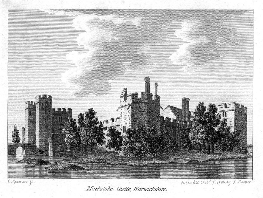 An engraving of Maxstoke Castle.  1820 |  IMAGE LOCATION: (Warwickshire County Record Office)