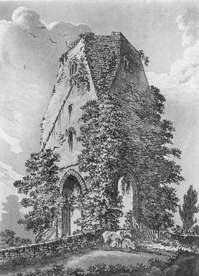 Engraving of Maxstoke Priory ruins.  Before 1850 |  IMAGE LOCATION: (Warwickshire County Record Office)