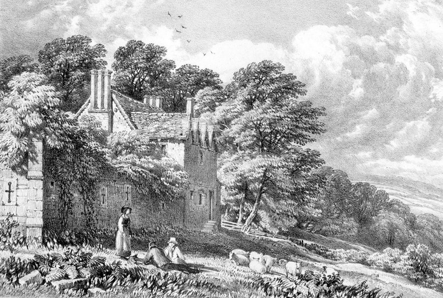Remains of  Hartshill Castle.  1800s |  IMAGE LOCATION: (Warwickshire County Record Office)