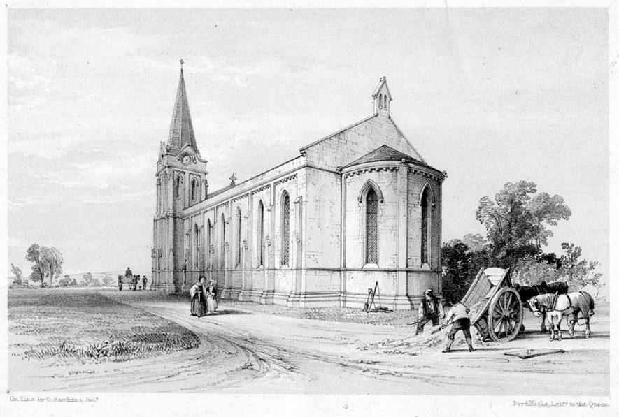 According to Pevsner it is Trinity Church built 1841-42, Attleborough. |  IMAGE LOCATION: (Warwickshire County Record Office)