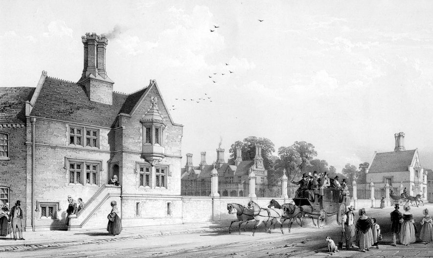 New hospital of Nicholas Chamberlain, Bedworth.  1839 |  IMAGE LOCATION: (Warwickshire County Record Office)
