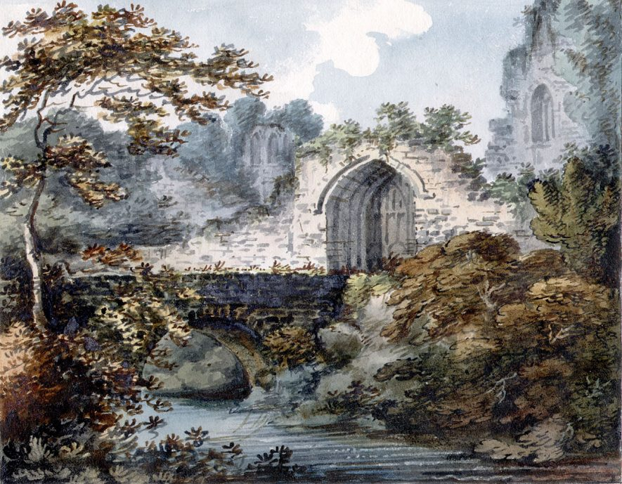 Watercolour of part of Astley Castle ruin.  1800s |  IMAGE LOCATION: (Warwickshire County Record Office)
