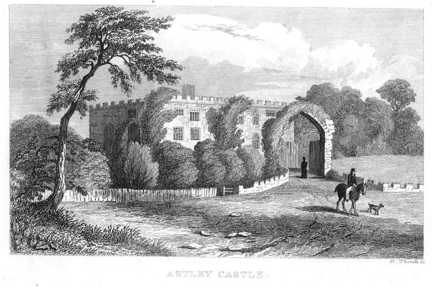 Astley Castle.  1800s |  IMAGE LOCATION: (Warwickshire County Record Office)