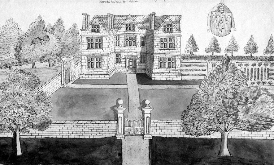 Weston-in-Arden hall built by George Lord Douche during the reign of Philip & Mary.  1800s |  IMAGE LOCATION: (Warwickshire County Record Office)
