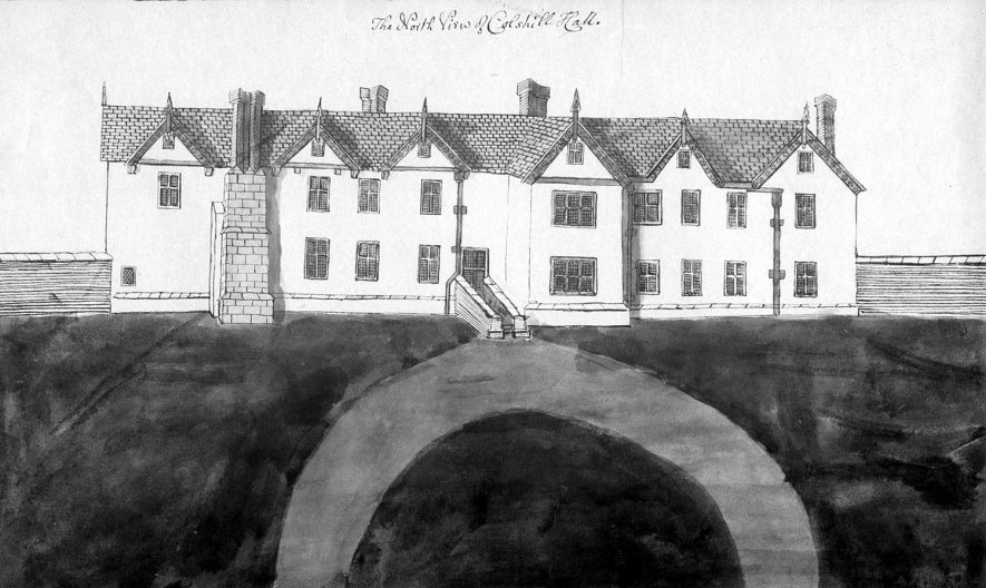 Early drawing of Coleshill Hall, North View.  1800s |  IMAGE LOCATION: (Warwickshire County Record Office)