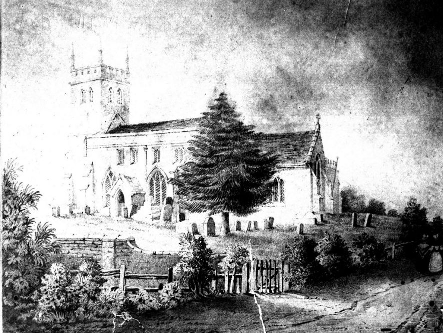 Fillongley Church.  1840 |  IMAGE LOCATION: (Warwickshire County Record Office)