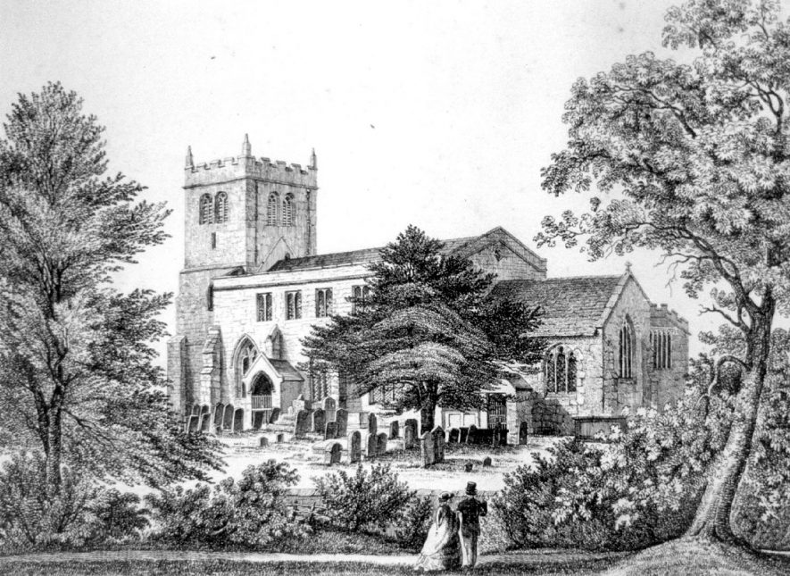 Fillongley Church.  1800s |  IMAGE LOCATION: (Warwickshire County Record Office)