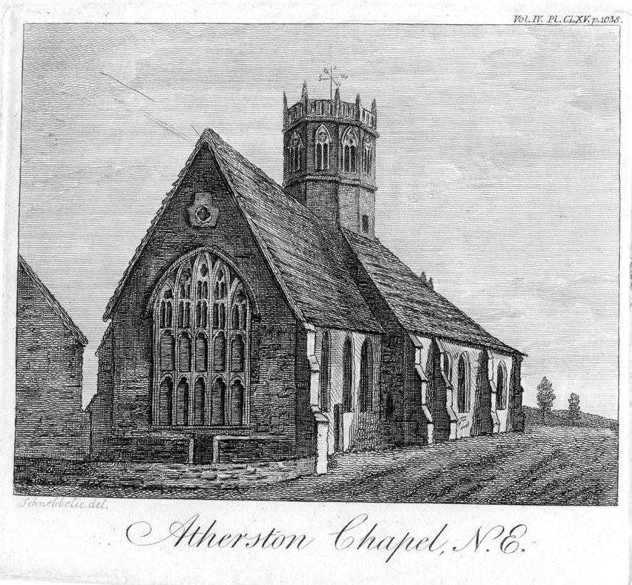 Atherstone Church from North East.  1800s |  IMAGE LOCATION: (Warwickshire County Record Office)
