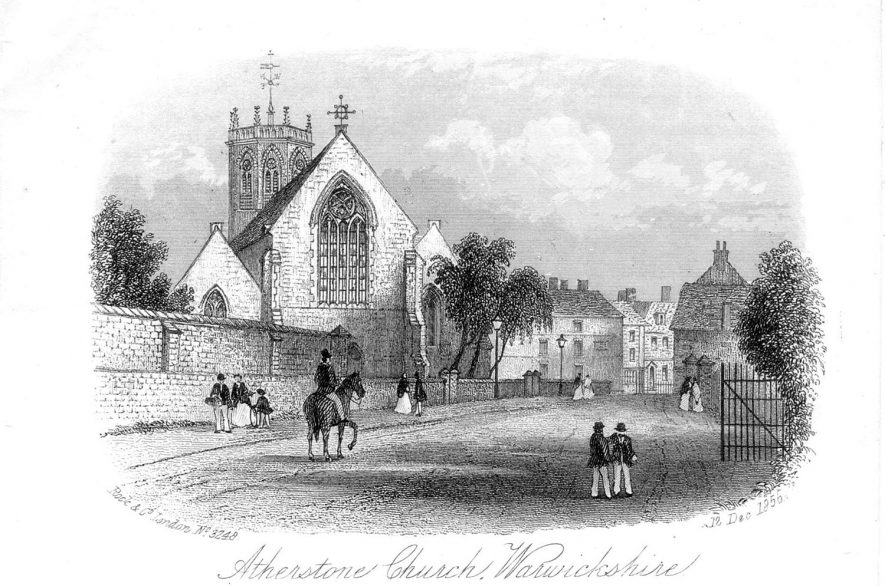 Atherstone church.  1800s |  IMAGE LOCATION: (Warwickshire County Record Office)