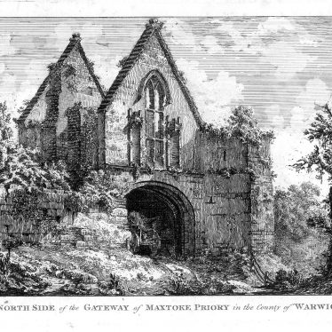 Maxstoke Priory.  North side of gateway