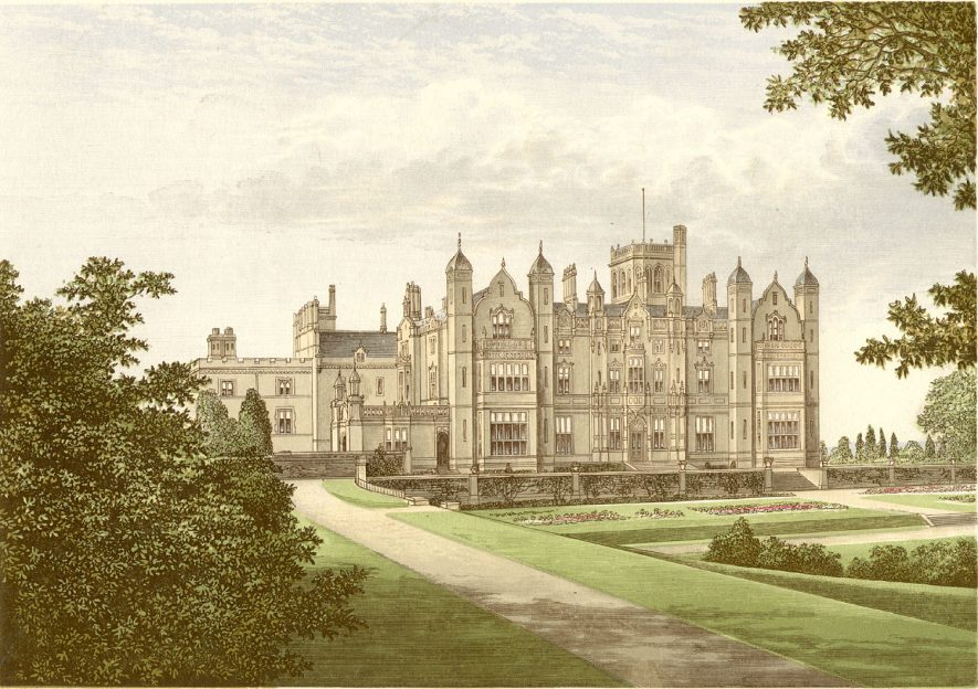 Merevale Hall after alterations in 1840.    IMAGE LOCATION: (Warwickshire County Record Office)