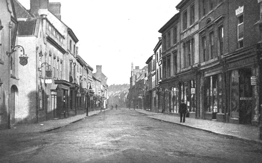 Shops and buildings in Long Street, Atherstone.  1900s |  IMAGE LOCATION: (Warwickshire County Record Office)